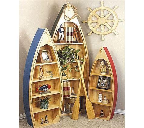 wooden boat shelves provide  nautical    room
