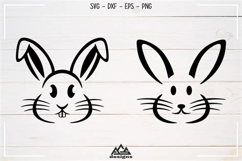 1 eps layered file : Rabbit Easter Bunny Svg Design By AgsDesign ...