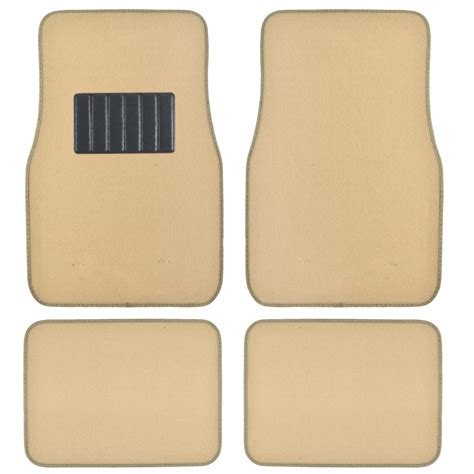 floor mats car light beige tan cream car floor mats liner pads utility mat standard fit 4pc set ebay