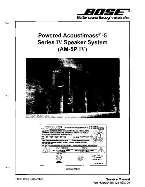 bose acoustimass 5 series iv am 5p iv service manual schematics eeprom repair info