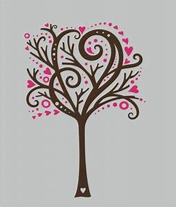 Tree Wall Design Wall Decals & Stickers, Whimsical Heart