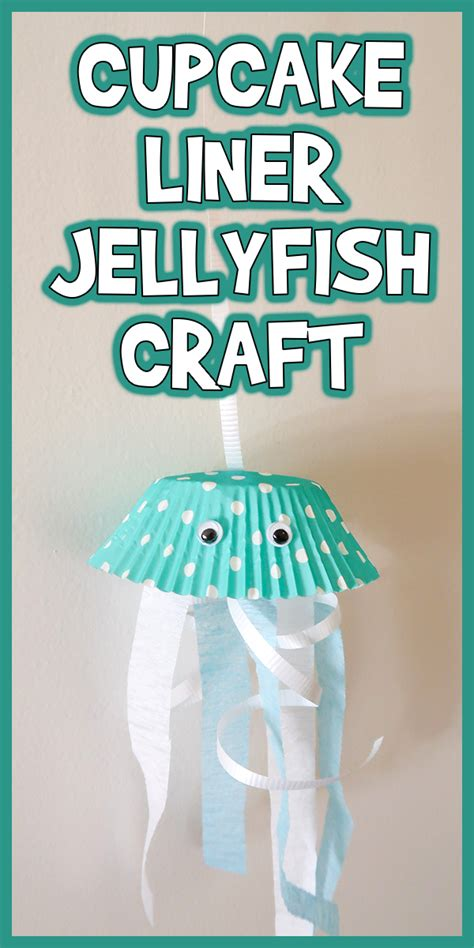 easy cupcake liner jellyfish craft woo jr kids activities