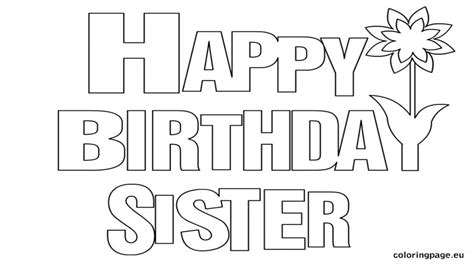 Best Sister Coloring Pages Happy Birthday Page Grig3org