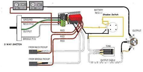 diagram  volume  tone  humbucking emg active wiring