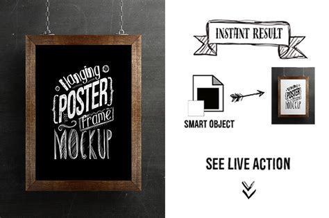 Hanging Poster Frame Mockup on Behance