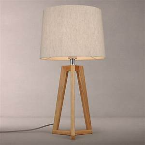 Buy john lewis brace table lamp oak john lewis for Oak lamp table john lewis