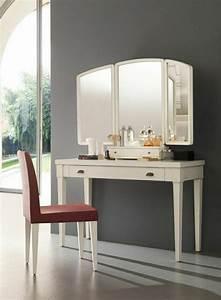 Coiffeuse Moderne Avec Miroir : jolie coiffeuse avec miroir 40 id es pour choisir la meilleure meubles pinterest ~ Teatrodelosmanantiales.com Idées de Décoration