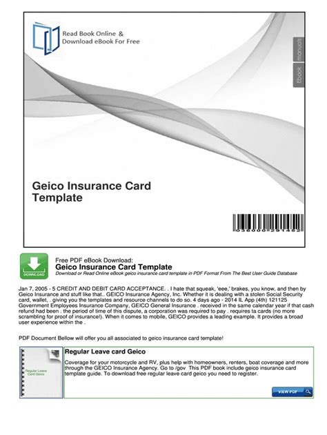 More information find this pin and more on templates by joe lewis. Geico Insurance Card Template Fill Online Printable Fillable Intended For Car Insurance Card ...