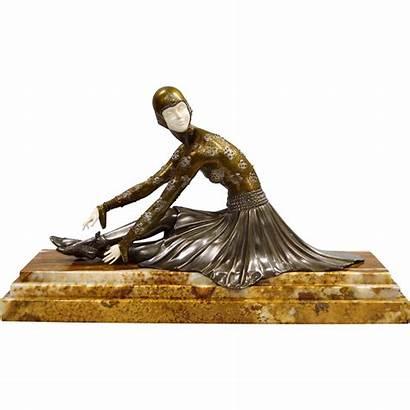 Chiparus Deco Bronze Ballerina Sculpture Figurine Stunning