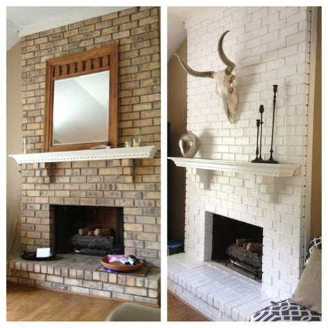 white fireplace paint 25 best ideas about painted brick fireplaces on