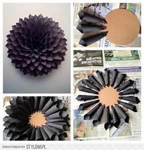 Diy paper flower wall decor ideas