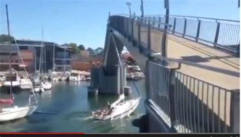 Sailboat Fails by Boat Fail Sailboat Hits Bridge Motor Boat Yachting