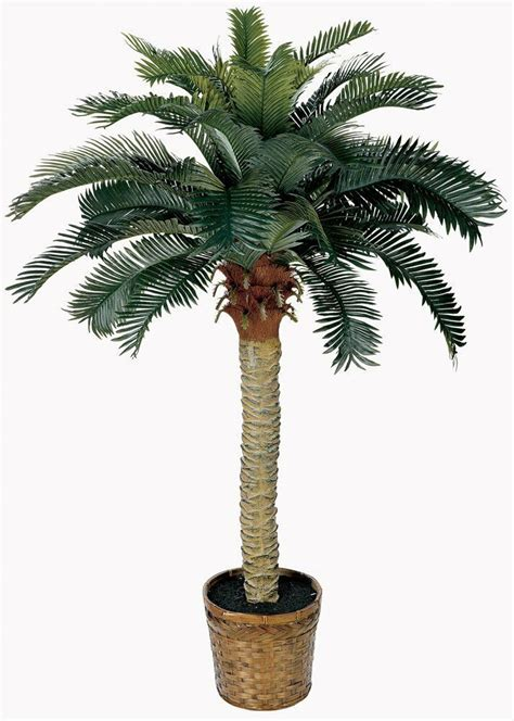 fake palm tree  feet tall artificial potted plant