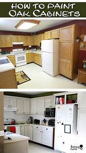 painting oak cabinets on pinterest cabinets honey oak With what kind of paint to use on kitchen cabinets for colonial candle holders