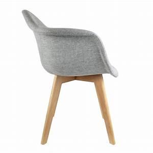 Fauteuil Chaise Scandinave : lot de 2 fauteuils scandinave tissus gris ~ Melissatoandfro.com Idées de Décoration