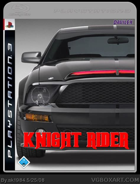 knight rider  game playstation  box art cover  ak