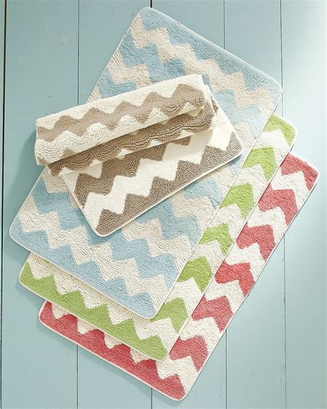 chevron bath rug 25 best images about green bathroom on ruffle