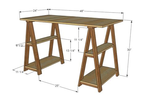 build a wooden desk ana white 1x3 sawhorse desk diy projects
