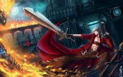 Devil Cry Dmc Sword Dante Warrior Fire