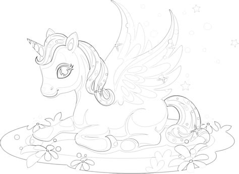 unicorn coloring pages   collection   mimi panda