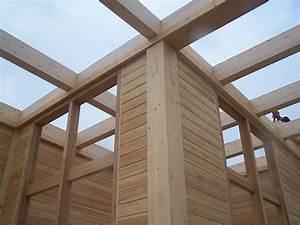 bois materiau de construction wikipedia With maison sans mur porteur 9 maison en bois structure poteau poutre
