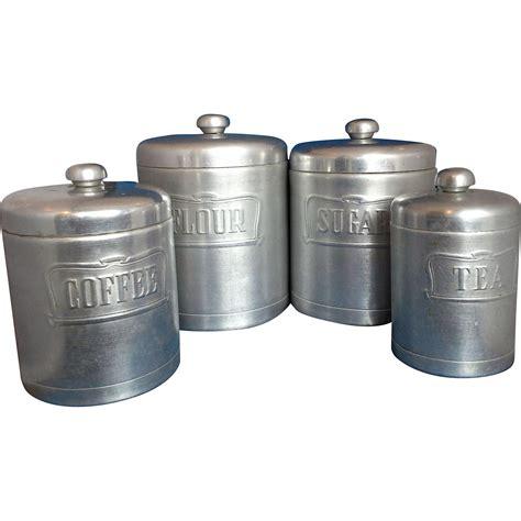 kitchen flour canisters heller hostess ware spun aluminum kitchen canister set