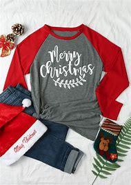 grey patchwork monogram print long sleeve round neck casual christmas t shirt
