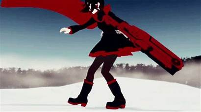 Rwby Ruby Rose Anime Crescent Weapons Characters