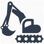 Icon Tractor Clipart Construction Digging Svg Silhouette