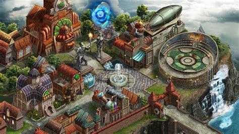 Igor Esaulov - Steampunk Magic City Map