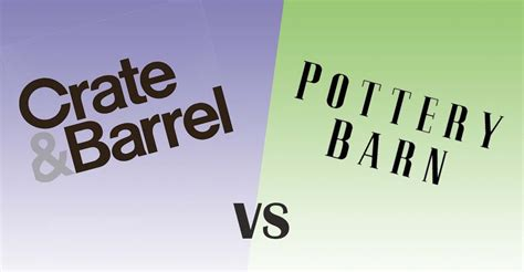 Crate And Barrel Vs. Pottery Barn