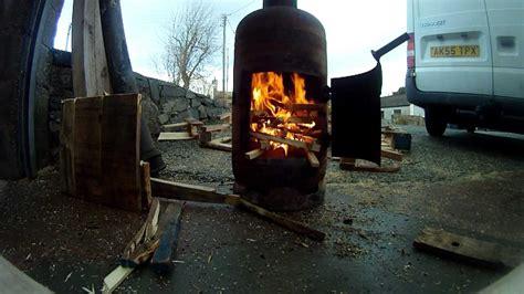 outdoor heater pot belly gas bottle woodburner a
