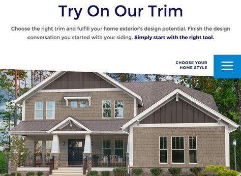 design tool  helps  choose exterior