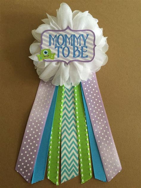 Baby Shower Pins For Corsages Monsters Baby Shower Corsage Pin To Be By