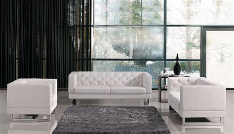 divani casa windsor modern tufted eco leather sofa set