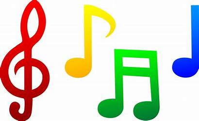 Notes Colorful Clipart Clip Symbols Musical Note