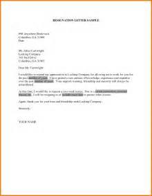 Standard Resignation Letter Template Word   oxfortsofa