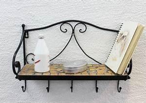 Wandregal Aus Metall : wandregal merano mosaik 050550 aus metall 41cm handtuchhalter badregal mit haken kaufen bei ~ Markanthonyermac.com Haus und Dekorationen