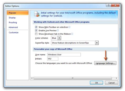 Office 365 Mail Language Settings by How To Change The Default Language In Outlook