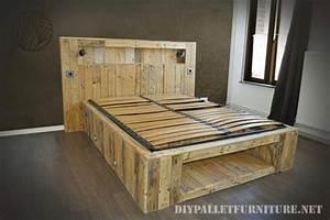 Bett Mit Paletten : bett gemacht mit paletten bohlen und einer matratzemobel aus paletten mobel aus paletten ~ Sanjose-hotels-ca.com Haus und Dekorationen