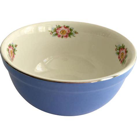 halls parade small mixing bowl china royal cadet blue and white 7 1 2 inch