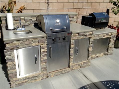 Fired Up About This Outdoor Grill Island!   Creative Faux