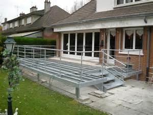 Structure Terrasse Bois Composite terrasse metallique b 194 timent cerh metallerie pour l