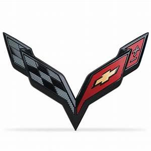 C7 Corvette Stingray / Z06 / Grand Sport 2014+ Cross Flags ...
