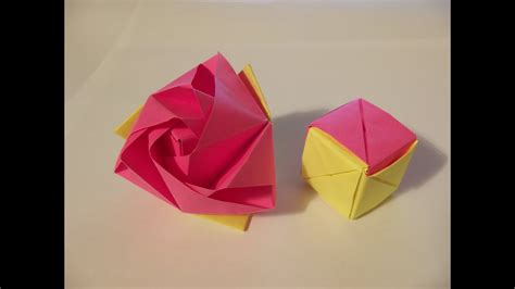 origami magic rose cube youtube