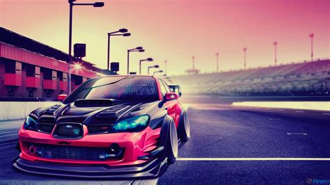 modded cars wallpaper subaru impreza modified car hd wallpaper