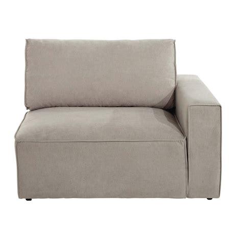 accoudoir de canapé accoudoir droit de canapé en tissu beige malo maisons du