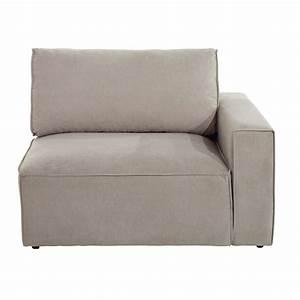 Canapé Tissu Beige : accoudoir droit de canap en tissu beige malo maisons du monde ~ Dallasstarsshop.com Idées de Décoration