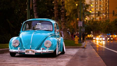 Volkswagen Beetle Cute Vintage Car 4k Wallpaper