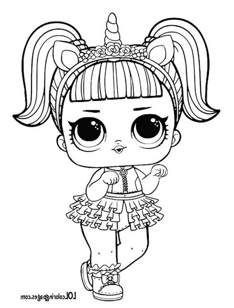 Kleurplaat Lol Unicorn by Unicorn Lol Doll Coloring Page Lol Doll
